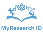 MyResearch ID Icon + Text BLUE