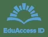 EduAccess ID Icon + Text BLUE