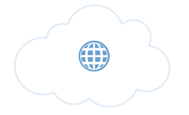 Image of globe in a cloud